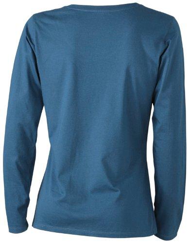 James & Nicholson Damen T-Shirt Langarmshirt Petrol