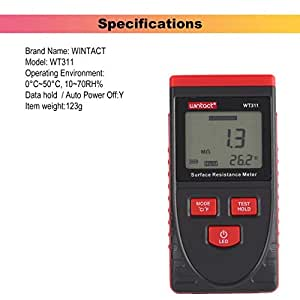 fghdfdhfdgjhh Fit WINTACT WT311 Anti-Static Surface Resistance Meter