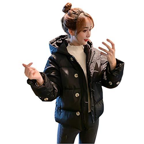 Creed Assassin's 4 Günstige Kostüm - WRWYOSF Damen Warm Kurz Mantel Wintermantel Winterjacke Dickere mit Kapuze Slim Fit Outwear Baumwollkleidung Parkajacke Reißverschluss Jacke
