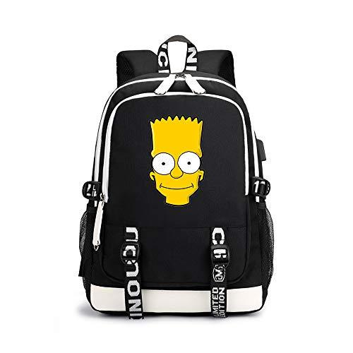 The Simpsons Schulrucksack Mode Rucksäcke Karikatur Gedruckte Sport Outdoor Daypack Schüler Rucksack Laptoprucksäcke (Rucksäcke Simpsons)