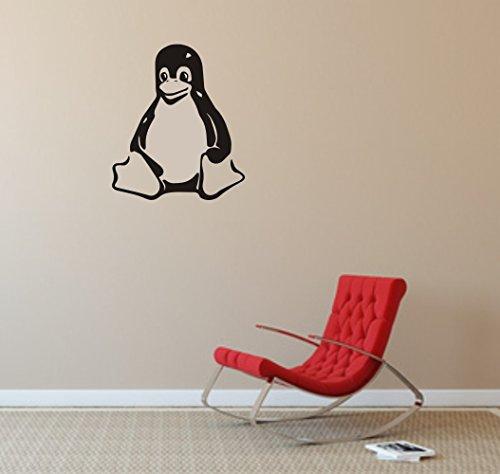 Maskottchen Design - Wandtattoo: LINUX TUX - Pinguin -