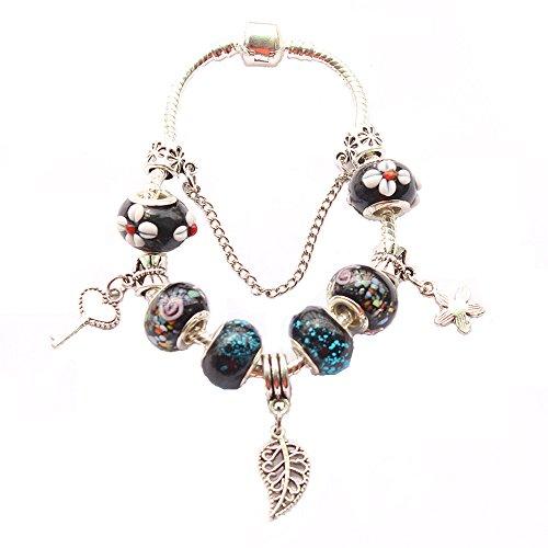 europea-in-stile-pandora-perle-acrilico-placcato-argento-braccialetto20cm