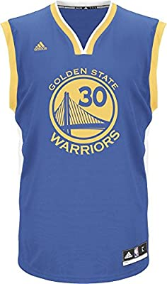 Adidas Int Replica Golden State Warriors - Camiseta de Stephen Curry para hombre, Azul