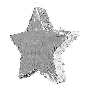 Folat Party Parte Estrella Piñata Plata Talla Única