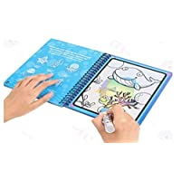 Cartoon Water Coloring Magic Book, Water Activity Book Paint Magic Water Drawing Book With Water Pen, Aqua Doodle Drawing Toys Coloring Book Reusable Education Learning Toys For Toddlers Kids