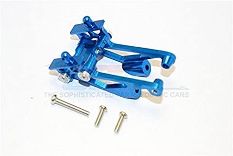 Kyosho Mini Inferno Upgrade Pièces Aluminium Rear Wing Mount With Screws - 5Pcs Set Blue