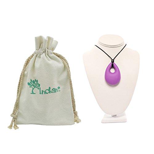 Collier sans BPA silicone Teething - Baby Croquer Teether Collier pendentif pour maman à porter, accessoires de mode (Teardrop)