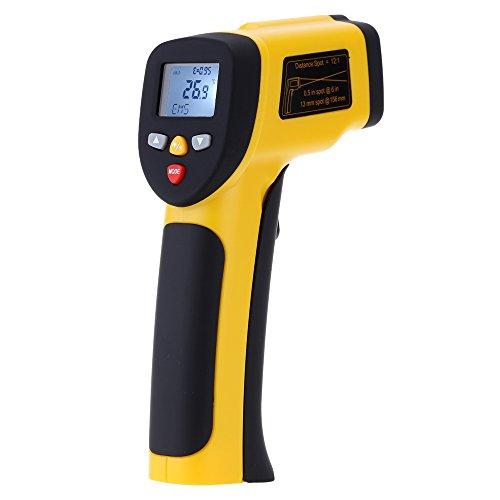 KKmoon Termometro Infrarosso IR Laser a Doppio Pirometro senza Contatto -50℃-850℃(-58℉-1562℉) con LCD Retroilluminazione Emissività regolabile 12: 1