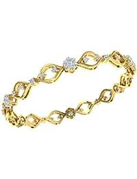 TBZ - The Original 18k Yellow Gold and Diamond Bangle