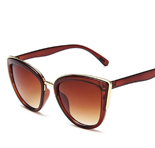 GengGeng Damen Retro Cat Eye Sonnenbrille Brille Leopard Farbe Sonnenbrille,3