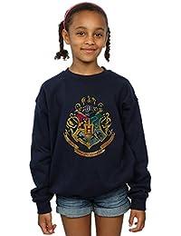 Harry Potter niñas Hogwarts Distressed Crest Camisa De Entrenamiento