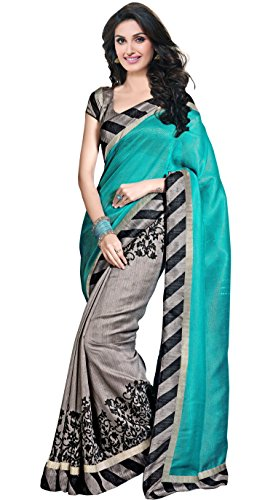 Trendz Cotton Silk Saree (Tz_Dolly_Sky_Sky)