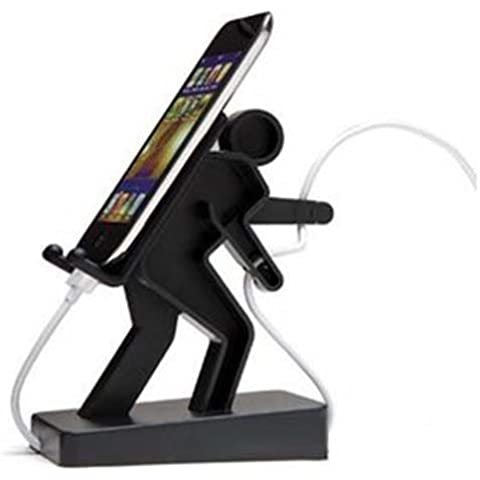 Elifestyle–Sostegno Docking Station Nero per Galaxy S4I9500, Galaxy Note 8, iPhone 55G 5S, 4G, 4S, ipad1,2,3,4,5, Mini, iPod, Galaxy Tab, Galaxy S2i9100, Galaxy S3I9300, Google Nexus 4, Surface Pro 2, Galaxy Note 2N7100, HTC Butterfly, iPod touch 55G