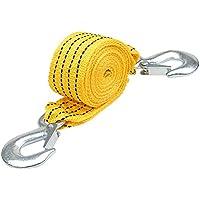 Correa de remolque de 3 metros, borte Correa de remolque de servicio pesado hasta 3 toneladas de cuerda de remolque con mango