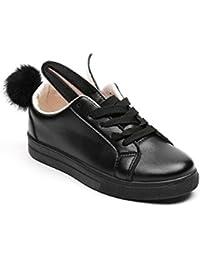 Ideal Shoes - Basket lapin en similicuir Janine