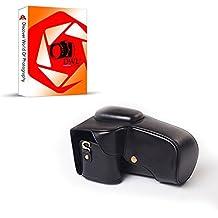 DWL Funda de piel sintética para Pentax K5II K5II K30K50W/18–Lente de 55mm/18–135mm, color negro