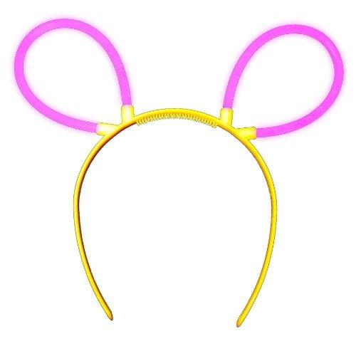 2x Knicklichter Bunny Ohren 3852 Haarreif in PINK (Kostüm Knicklicht)