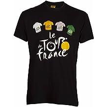 Le Tour de France - Camiseta oficial del Tour de Francia, talla de adulto, para hombre, Le Tour de France, color negro, tamaño small