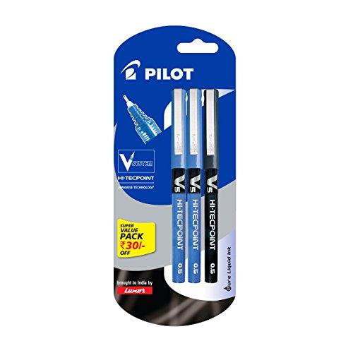 Pilot V5 Liquid Ink Roller Ball Pen - 2 Blue...