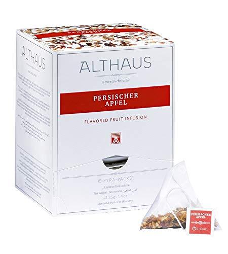 Althaus Pyra Pack Persischer Apfel 15 x 2,75g · Früchtetee im Pyramidenbeutel