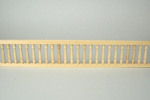 für Balkon aus Holz, für Krippe oder Puppenhaus, 30 cm, naturbelassen ()