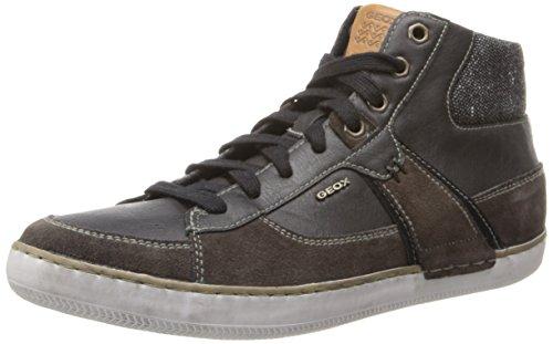Geox U Box, Baskets mode homme Marron (Mud/Black)