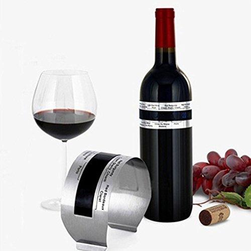 GEZICHTA Wein Armband Thermometer, Edelstahl Rot Wein Thermometer, 4?24? Rot Wein Temperatur Sensor mit Großem LCD-Große für Bier hobbybrauen