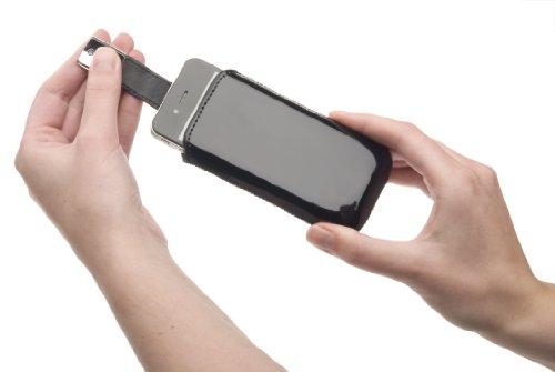 Housse Ksix Monaco dans la couleur Noir-Convient pour Apple iPhone 4et 4S/HTC Desire S/Samsung S5830Galaxy Ace, i8150Galaxy W/Nokia C7, C7-00, N8N8-00(Étui Étui Coque de Protectio