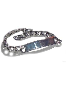 Schildarmband aus Edelstahl mit Gravur - Armband, Armkette, Armreif für Sie und Ihn inkl. Gravur