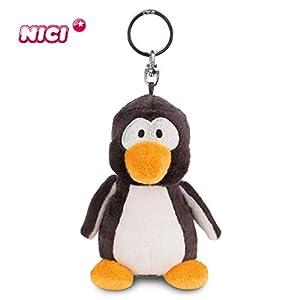 NICI- Pingüino Frizzy, llavero BB 10cm, Color negro (1)