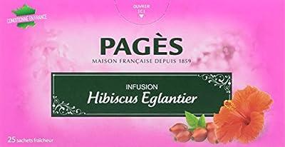 Pagès Infusion Hibiscus Eglantier 25 sachets - Lot de 3