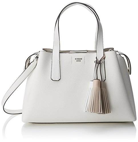 Guess Damen Bags Hobo Umhängetasche, Weiß (White), 14.5x24x36.5 centimeters