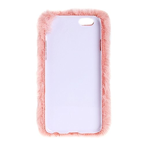 Wkae Case Cover Faux-Pelz-PC-Schutzhülle für iPhone 6 &6s ( Color : White ) Pink