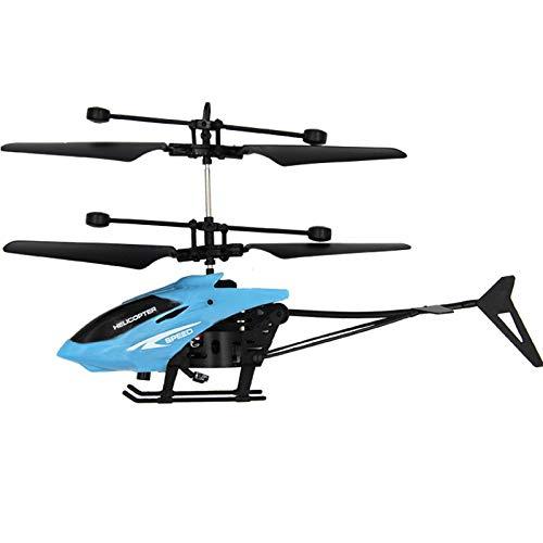 Qinhanjia Control RC Helikopter, Ferngesteuerter Hubschrauber für Einsteiger, Hubschrauber RC Mini Infraed Induktions Flugzeuge Blinklicht Spielzeug Weihnachtsgeschenk für Kinder (Blau)