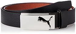 Puma Mens leather Belt (5300201_Black_one size)(4056204912829)