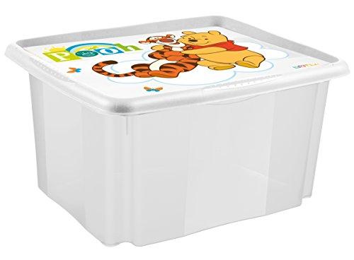 keeeper Winnie Aufbewahrungsbox mit Dreh-/Stapelsystem, 42,5 x 35,5 x 22,5 cm, 24 l, Anna, Weiß