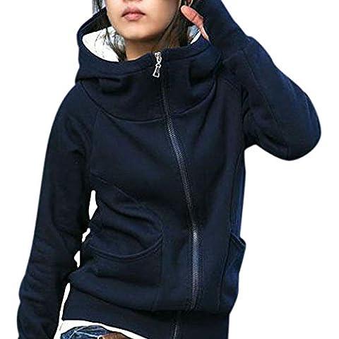 Fortan Lady cappotto incappucciato felpata del rivestimento Pullover Encase maniche lunghe dita