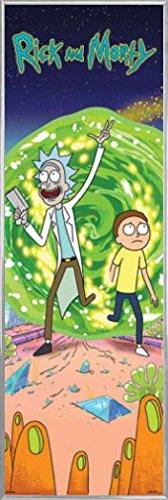 Rick Y Morty Póster para la puerta con Marco (Plástico) - Portal (158 x 53cm)