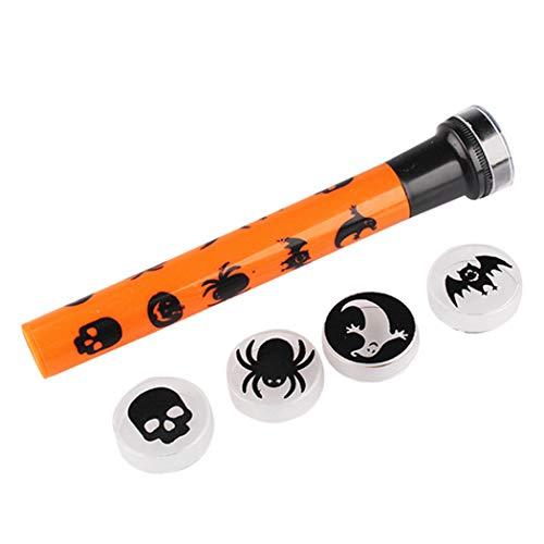 JUSTDOLIFE Halloween Projektor Taschenlampe 5 Muster Portable Handheld LED Projektor Licht