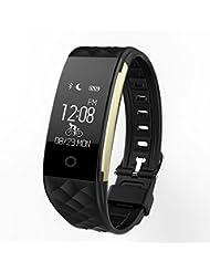 ranipobo pulsera inteligente bluetooth reloj IP67 resistente al agua portátil banda corazón tasa Sleep fitness monitor