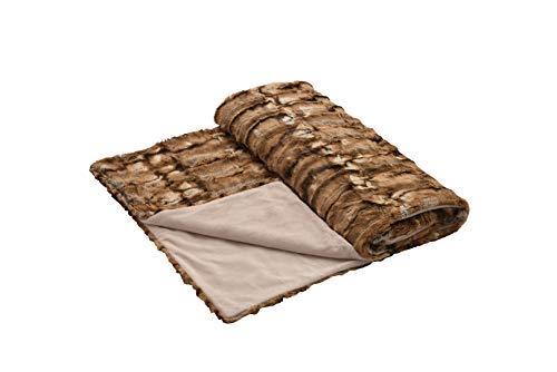 Eskitex Extrem Kuschelige Decke oder Kissen Webpelz !!Schweizer Hersteller!! Hervorragende Qualität !! Genau Das Richtige für Winterabende. (Decke 150x200cm)