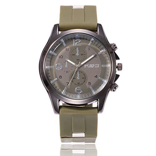 Gloaming Herren Luxusuhr Mode Silikonband Quarz Vintage Analog Armbanduhr