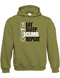 Vectorbomb, Eat Sleep Escalade Répétez Capuche (S à 5XL)