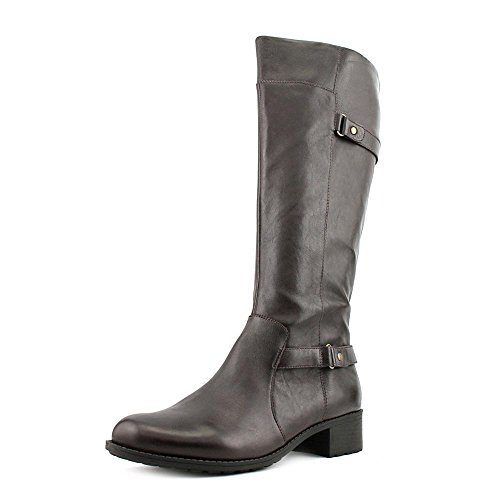 easy-spirit-labarca-womens-brown-leather-fashion-knee-high-boots-size-uk-4