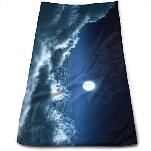 Liumiang Handtuch Exotic Moon in The Clouds Quick Dry Face Towel Tie-Dye Bear Terry Towel Soft Mircofiber Towel - Terry Tie Dye