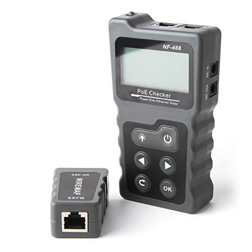 KKmoon Netzwerk Kabeltester RJ45 Patchkabel Tester LAN Netzwerktester Leitungstester Ethernet Network Cable Tester PoE Checker