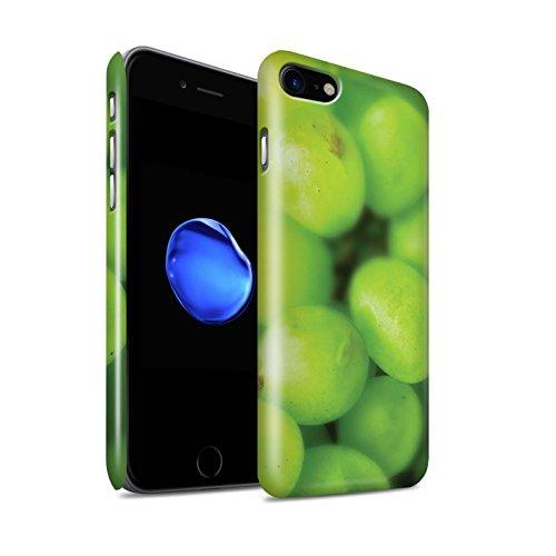 STUFF4 Glanz Snap-On Hülle / Case für Apple iPhone 8 / Orange Peel / Haut Muster / Obst Kollektion Trauben