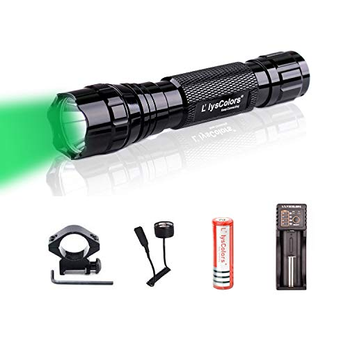 Linterna, L'lysColors Verde luz LED Luz Linterna interruptor