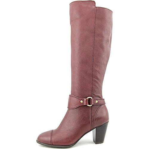 Giani Bernini Cagney Large Cuir Botte Oxblood