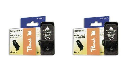 Peach Doppelpack Tintenpatronen schwarz kompatibel zu Epson T017